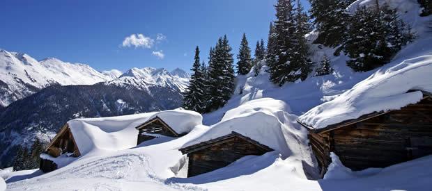 Wintersport See in het Paznauntal