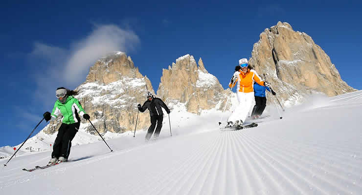 Wintersport en skiën in Val di Fassa